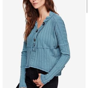 NEW Free People In The Mix Henley Top